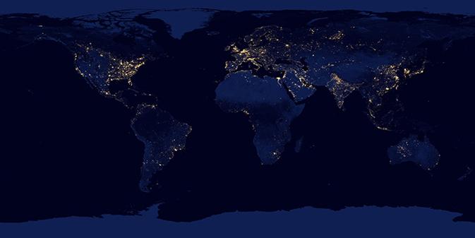 NASA Earth Observatory-NOAA NGDC